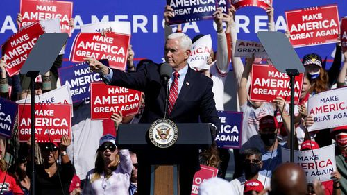 Mike Pence campaigning in Flagstaff, Arizona.
