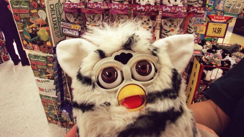 A Furby pictured at a Toys R Us store back in 1999.