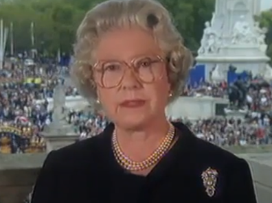 Queen's formal address after Princess Diana's death