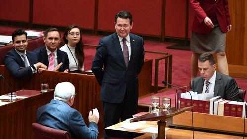 Senator Smith's bill was massed without any major amendments. (AAP)