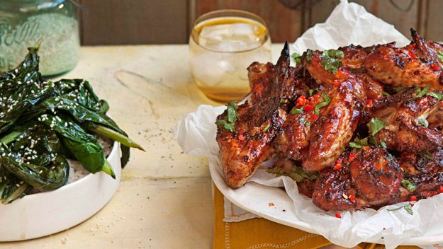 Coriander, lime and chilli chicken wings