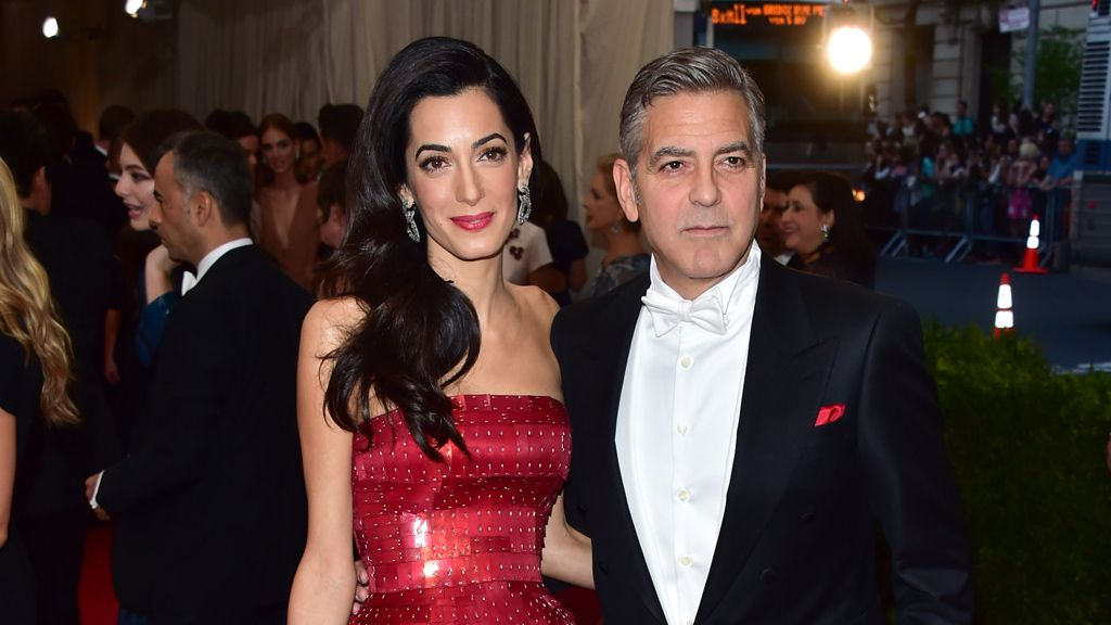 Amal and George Clooney at the 2015 Met Gala. Image: Getty.