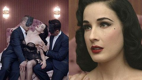 Watch: Dita Von Teese's raunchy music video debut