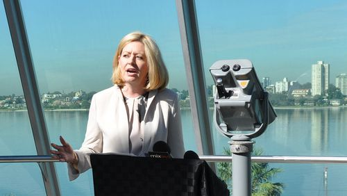Perth Lord Mayor, Cr Lisa Scaffidi hopes to be first person to try out the mega slide. (AAP)