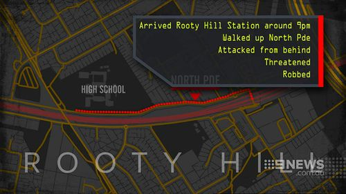 The woman was attacked on North Parade in Rooty Hill. (9NEWS)