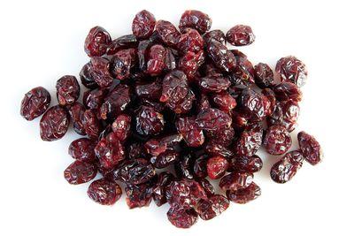 Dried cranberries: 72.6g sugar per 100g