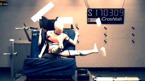 The crash tests applied the same amount of energy that would be experienced in a fall from a five-storey building.