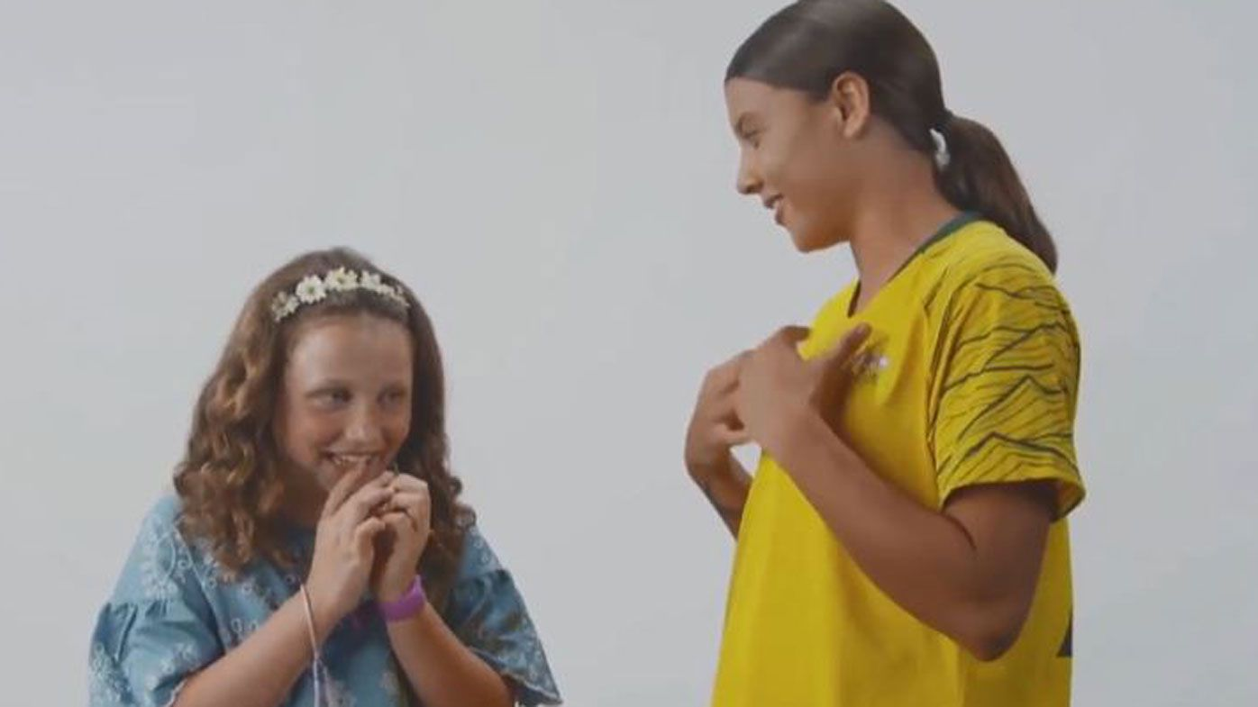 Heart melting moment a young Sam Kerr fan got to meet her hero