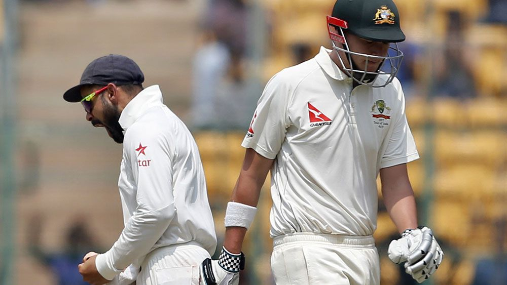 Indian captain Virat Kohli sledges Australia's Matt Renshaw with toilet gags