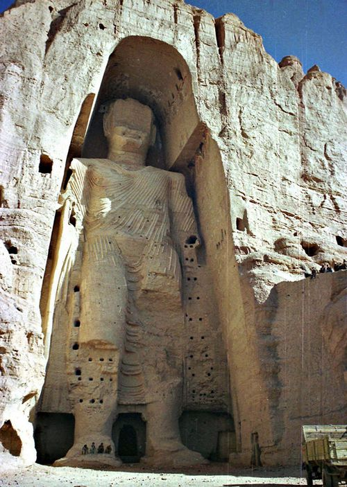 A 53-metre tall, 2000-year-old Buddha statue located in Bamyan, about 150km west of the Afghan capital of Kabul.