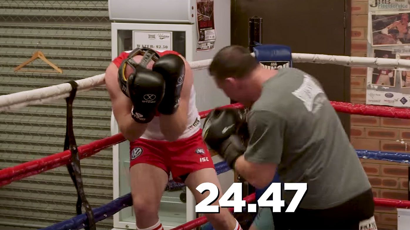Paul Gallen sparring