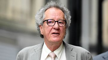 Australian actor Geoffrey Rush arrives at the Federal Court in Sydney, Tuesday, November 6, 2018.
