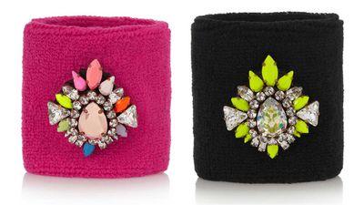 Shourouk Wimblee Swarovski crystal-embellished stretch terry wristband