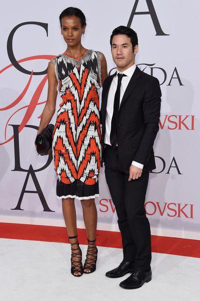 <p>Liya Kebede in Altuzarra withdesigner Joseph Altuzarra</p>