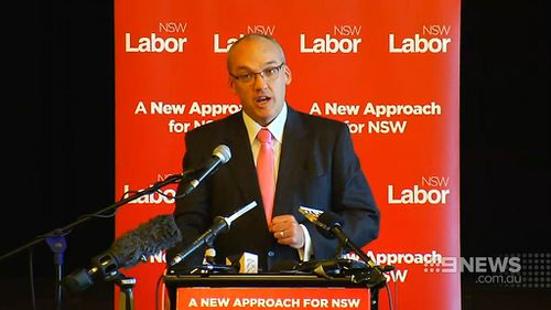 Labor leader Luke Foley at a Central Coast announcement today. (9NEWS)