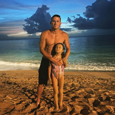 Channing Tatum and daughter Everly.