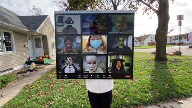"Dad makes ""Zoom"" Halloween costume"