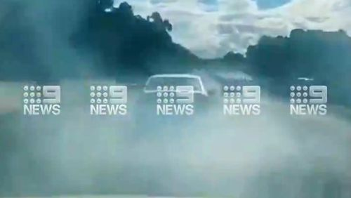 Shocking mobile footage has emerged of an alleged road rage incident that could've been deadly along the busy M1 Motorway near the Gold Coast.