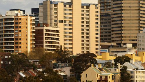 High density housing in Kings Cross and Potts Point. (AAP)