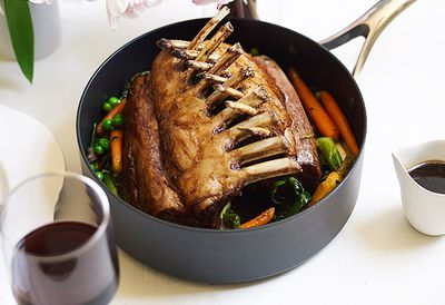 Roasted rack of spring lamb