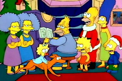 The yellow-fingered family have appeared in oodles of Christmas-themed adventures, but did you know that the very first episode of the long-running series was a Christmas special? In 1989's 'Simpsons Roasting on an Open Fire', Homer resorts to desperate measures to buy presents for his family after his Christmas bonus is cancelled — and ends up giving them an abandoned greyhound named Santa's Little Helper.