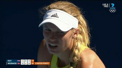 Wozniacki scrapes into Open third round with win over Jana Fett