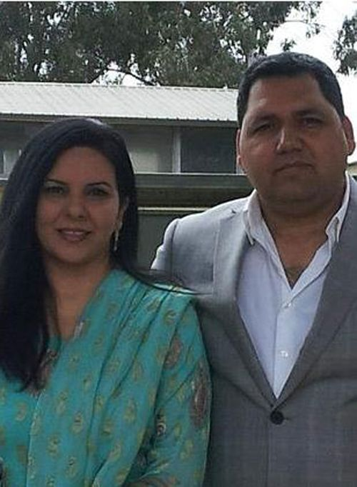 Rozelle convenience store owner Adeel Khan and his wife Naima. (Facebook)