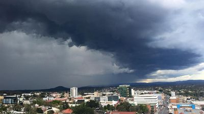 The view from Ipswich Hospital. (Facebook: Lukas Barry)