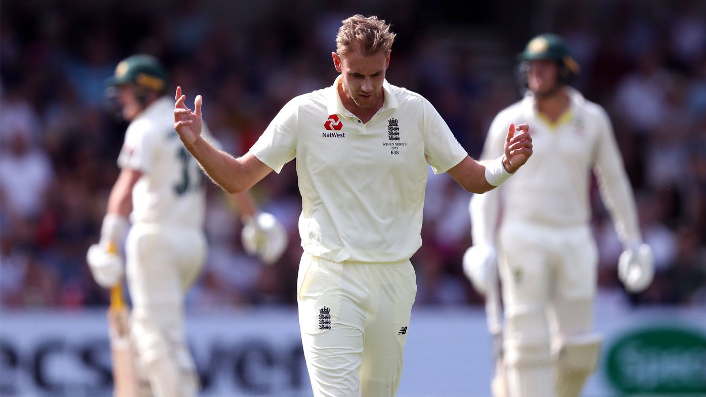 Broad was visibly annoyed on day three.