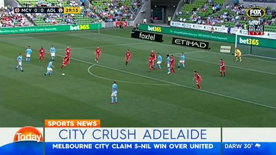 A-League: Dario Vidosic scores brace as Melbourne City smash Adelaide