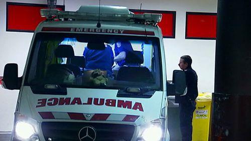 An ambulance at the scene. (9NEWS)