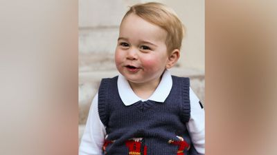 The last time the Duke and Duchess of Cambridge released official commissioned photos was for George's first birthday in July. (AAP)