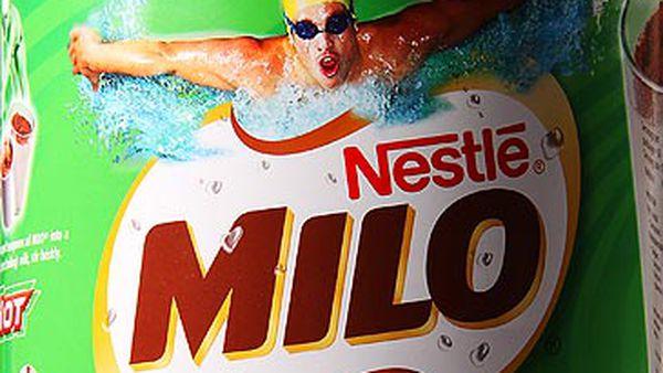 Crop of Milo can (Nestlé)