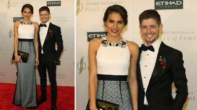 Motorcycle racer Casey Stoner and wife Adriana. (AAP)