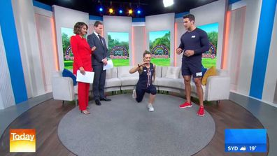 F45 trainer Cory George and Lauren Pegus on Today show