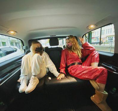 Heidi Klum and Leni Klum.