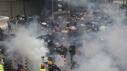 Protesters defy ban and occupy central Hong Kong