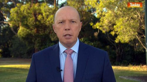 Peter Dutton accused Anthony Albanese of attacking the AFP officers involved in the raid.