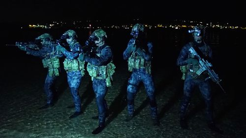 Out of the wet, silky darkness, their figures emerge. (9NEWS)