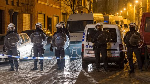 Belgian police have conducted a series of raids since the triple suicide bombings. (AAP)