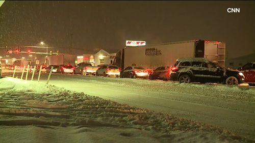 Multiple crashes have also been caused by the icy conditions on roads in different states.