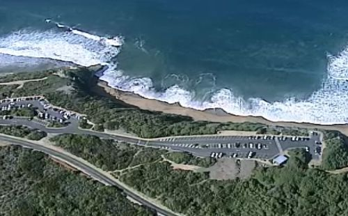 A man has died after after being found unconscious in the water off Victoria's Bells Beach.