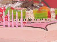 Party cake — handbag and <i>Snakes Alive</i> jelly cups