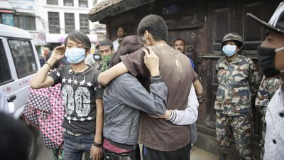 <p>More than 3,200 people have been killed after a devastating 7.9 magnitude earthquake struck in Nepal.</p> <p>The US Geological Survey said the quake struck 81km northwest of Kathmandu.</p> <p>The quake also triggered an avalanche on Mount Everest, leaving at least 10 dead.</p> <p><strong>Click through for images from the scene.</strong></p> <p><br> </p>