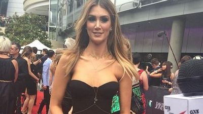 Songstress Delta Goodrem tweeted her excitement before arriving. (Picture: Jade Adelaide, Twitter)