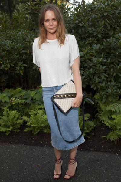 Stella McCartney at the Net-a-porter x GOOD + Foundation summer 2018 dinner at the Seinfeld's estate.<br /> <br />