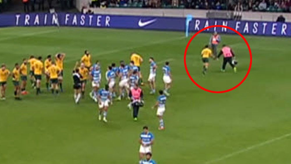 Wallaby Phipps shoves Pumas medic in win