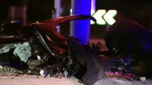 The 24-year-old passenger died at the scene. (9NEWS)