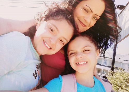 Ms Matos credits her two daughters Katherine and Elisabeth for her recover. Picture: Facebook