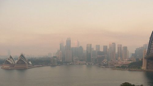 The smoke is expected to clear coastal areas first today as a sea breeze develops. (9NEWS)